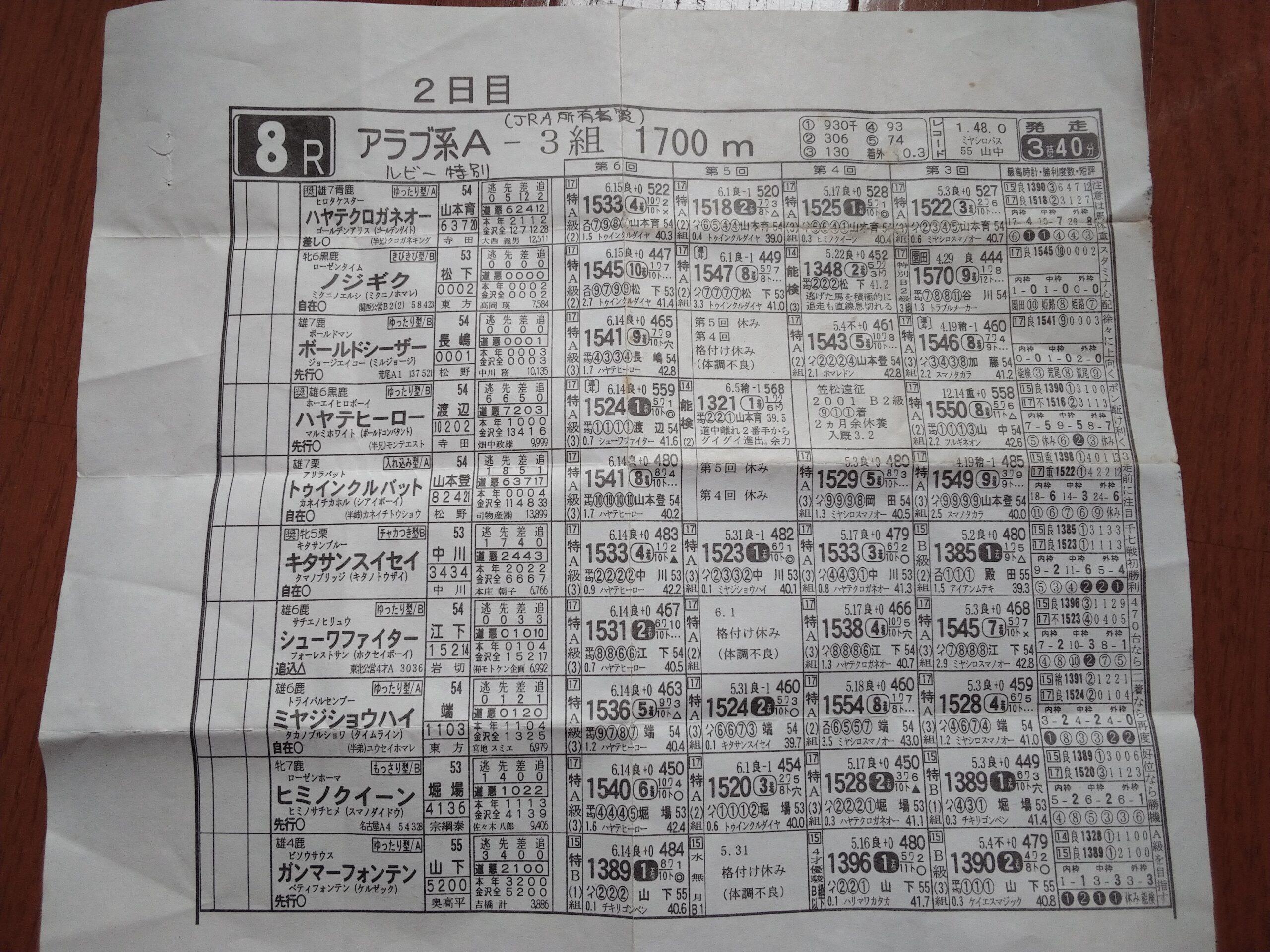賢き名馬 金沢の名馬ハヤテサカエオーのヒミツ(?)